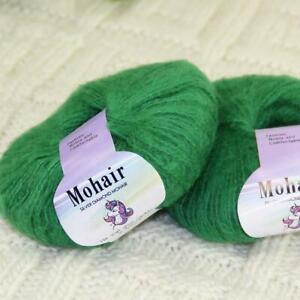 Sale New 2BallsX25g Luxury Soft Mohair Lace Wrap Shawl Hand Knit Crochet Yarn 14