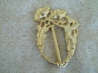 "Vintage ""Ultra Craft"" Pin, Mermaid Design, Gold Tone Metal, Nicely Detailed."