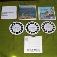 View Master 3 Reels Set San Francisco w/ Cover Envelope, Booklet, Brch A172
