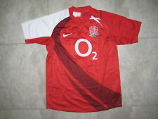 NIKE England English National Rugby Union Team 02 Red Rose Red Shirt USED SMALL