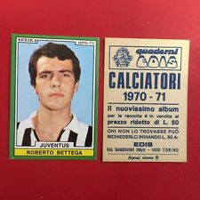 CALCIATORI EDIS 1970/1971 JUVENTUS BETTEGA Figurina Album Calcio 70/71 (NEW)