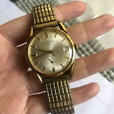 Rotary Vintage Swiss Made Mechanical Mens Dress Watch With Second Sub Dial