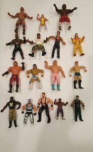 Lot of 16 Vintage 1980s 1990s Wrestling Figures ljn titan sports wwf wwe wcw