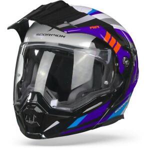 Scorpion ADX-1 Lontano White Blue Red Adventure Helmet
