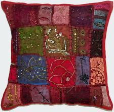 10Pc Wholesale Lot Vintage Zari Work Cushion Cover Home Decor Pillow Sham Cover