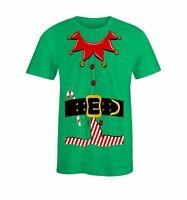 S4E Men's Elf Costume T-Shirt Funny Christmas Santa's Helper Shirts