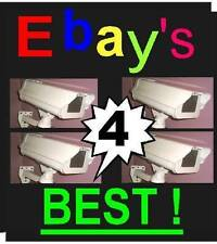 4-Fake Cctv Housing Smoked Glass Camera+Flashing Red Led Surveillance Security