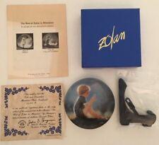 "Pemberton & Oakes ""Erik"" Miniature Donald Zolan 3 1/4"" Plate #3640B COA"
