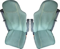 DAF VELOUR SEAT COVERS DAF IN GREEN  [TRUCK PARTS & ACCESSORIES]