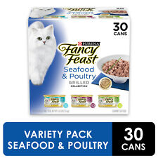 (30 Pack) Fancy Feast Grilled Gravy Wet Cat Food ,Seafood + Freeshipping
