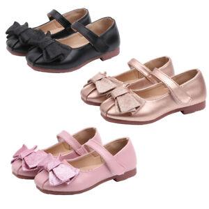 Girl Child Flat Princess Glitter Bowknot Shoe Baby Toddler Kid Casual Walk Shoes