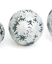 Dekokugel Gerbera Gartenkugel Metall Zink D 18,5 cm Kugel