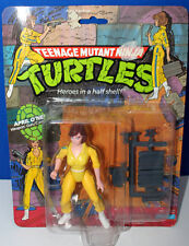 TMNT APRIL O'NEAL WITH PROTECTIVE CASE 1988 PLAYMATES  MINT ON CARD