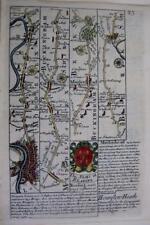 LONDON  MIDDLESEX  BERKSHIRE MARLBOROUGH BY EMANUEL BOWEN GENUINE ANTIQUE c1720