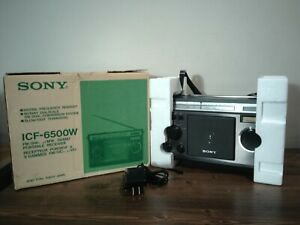 SONY  FM/SW/MW 5 Band Receiver Model No. ICF-6500W, Excellent Condition.
