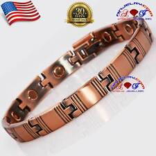 "8.4"" Attractive Copper Magnetic Bracelet Women Arthritis Therapy Healing X30"