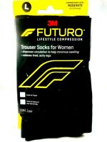 FUTURO Compression Trouser Socks For Women -Large- Black
