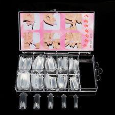 100pcs False Nail Tips Clear Dual Nail Art Acrylic Nail System Form Tools Mold