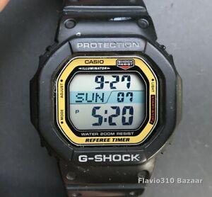 Rare Casio G-SHOCK DW-56RT-1V (2991) Referee Timer 43mm Black watch  New Battery