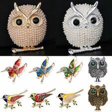 2020 Fashion Crystal Rhinestone Birds Owl Animals Brooch Pin Wedding Jewellery