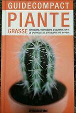 Piante Grasse conoscere... Libro Nuovo Guide Compact De Agostini