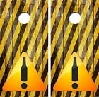 Beer Drinkers Road Sign Limited Edition Cornhole Board Decal Wrap FREE SQUEEGEE