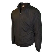 Mens Harrington Fleece Lined Jacket Carabou Full Zip Padded Fleece Lined Mod New