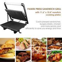 Aicok Parrilla Sandwichera Grill 4 Antiadherentes Bandeja de Goteo Tapa Flotante