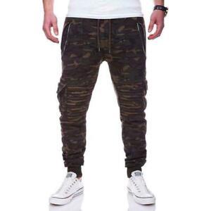 Men Casual Trousers Jogger Pants Sweatpants Cargo Combat Active Sport Trousers