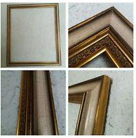 Bilderrahmen Alt Gold Farben Echt Holz ca. 50x60 cm Falzmass Art Barock Shabby !