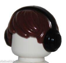 LEGO® Haare mit Kopfhörer Perücke Frisur Flattop für Figur Hair Peluca NEU