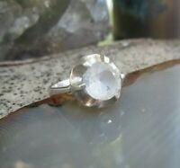 skandinavischer ring silber 835 mit bergkristall true vintage 17 mm