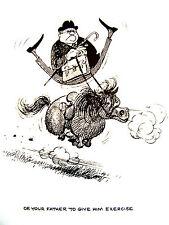 Thelwell Vintg. Art Book Plate Riding Horse Pony Children Equitation '64 Open Ed