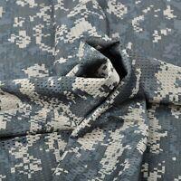 "ACU Digital Camo Camouflage Net Cover Army Military 60""W Mesh Fabric Cloth"
