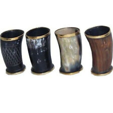 4 Pcs Assorted Buffalo Horn Game of Throne Medieval Viking Drinking Cup Mug