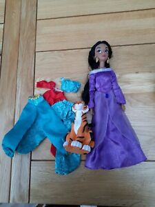 Disney Store Jasmine from Aladdin Classic Poseable Doll  + extra outfits + Rajah