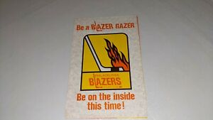 Vintage 1972 Philadelphia Blazers WHA Hockey Booster Order Form