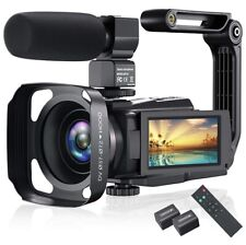 4K Video Camera Camcorder, 48MP 60FPS IPS Touch Screen, WiFi And Night Version