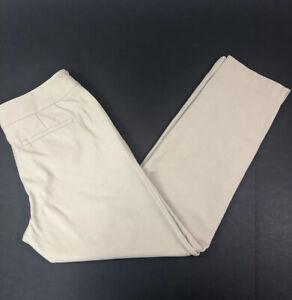 Sigrid Olsen Signature Stretch Side Zip Crop Ankle Pants Khaki Size 6 Very Nice