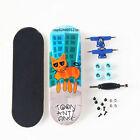 Complete Wooden Fingerboard Finger Skate Board Grit Foam Tape Maple Wood Cat