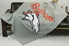 Northwest NFL Football Denver Broncos Sweatshirt Throw Blanket - Grey