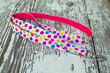 Pink, Yellow, Green, and Purple Dot Lanyard-Keys, ID badges, Flash drives, etc.