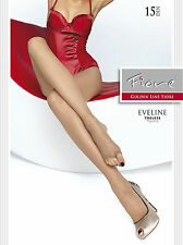 Fiore Strumpfhose Eveline für Peeptoes zehenfrei transparent 15 DEN Gr. S - L
