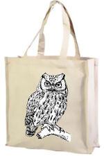 Owl Cotton Shopping Bag, Choice of Colours