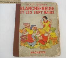 VINTAGE 1938 WALT DISNEY SNOW WHITE TALE BOOK FRANCE