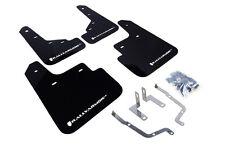 RallyArmor Black Mud Flaps (White Logo) for 2014+ Mazda 3