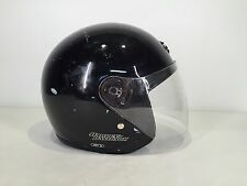 HARLEY DAVIDSON Jet II Motorcycle HELMET - Size L Cafe Race Scooter LARGE Black
