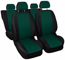 Car seat covers fit Citroen C4 - XR black/green sport style full set
