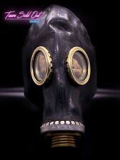 New Black Soviet Russian Military Ussr Gas Mask Gp 5 Rubber Cff3 Ppe Vintage