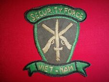 US Army SECURITY FORCE Vietnam War Hand Made Patch